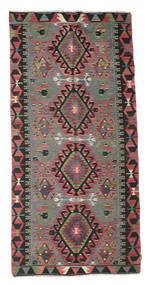 Kilim Pół -Antyk Tureckie Dywan 147X303 Orientalny Tkany Ręcznie Czarny/Ciemnoszary (Wełna, Turcja)