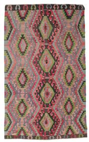 Kelim Halvt Antikke Tyrkiske Teppe 180X296 Ekte Orientalsk Håndvevd Lilla/Mørk Brun (Ull, Tyrkia)
