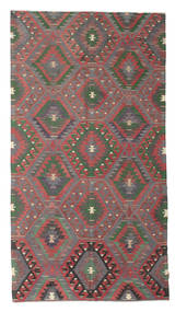 Kilim Semi Antique Turkish Rug 165X307 Authentic  Oriental Handwoven Dark Grey/Dark Red (Wool, Turkey)