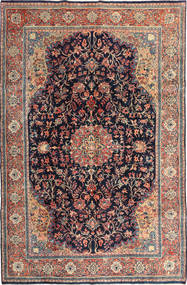 Keshan Rug 230X337 Authentic  Oriental Handknotted Dark Purple/Brown (Wool, Persia/Iran)