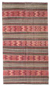 Kilim Semi Antique Turkish Rug 153X275 Authentic  Oriental Handwoven Brown/Dark Red (Wool, Turkey)