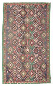 Kelim Semi-Antiek Turkije Vloerkleed 204X344 Echt Oosters Handgeweven Donkergrijs/Lichtbruin (Wol, Turkije)