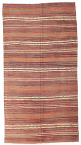 Kilim Semi Antique Turkish Rug 182X345 Authentic  Oriental Handwoven Light Brown/Brown (Wool, Turkey)