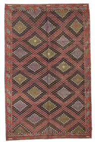 Kelim Semiantiikki Turkki Matto 184X290 Itämainen Käsinkudottu Tummanharmaa/Ruskea (Villa, Turkki)