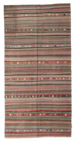 Kilim Semi Antique Turkish Rug 144X285 Authentic  Oriental Handwoven Light Grey/Brown/Dark Grey (Wool, Turkey)