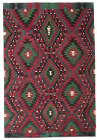 Kilim Félantik Törökország Szőnyeg 194X284 Keleti Kézi Szövésű Piros/Fekete/Sötétszürke (Gyapjú, Törökország)