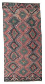 Килим Полуантичный Турецкий Ковер 168X345 Сотканный Вручную Темно-Серый/Светло-Серый (Шерсть, Турция)