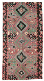 Kilim Semi Antique Turkish Rug 159X314 Authentic  Oriental Handwoven Dark Brown/Dark Beige (Wool, Turkey)