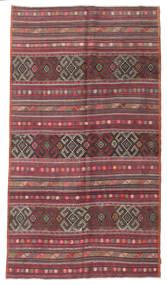 Kilim Pół -Antyk Tureckie Dywan 173X304 Orientalny Tkany Ręcznie Ciemnobrązowy/Ciemnoczerwony (Wełna, Turcja)
