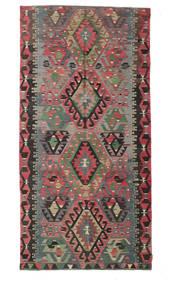 Kilim Semi-Antique Turquie Tapis 160X317 D'orient Tissé À La Main Gris Foncé/Marron (Laine, Turquie)