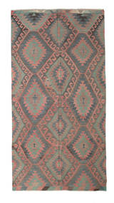 Kelim Semi-Antiek Turkije Vloerkleed 178X339 Echt Oosters Handgeweven Donkergrijs/Bruin/Lichtbruin (Wol, Turkije)