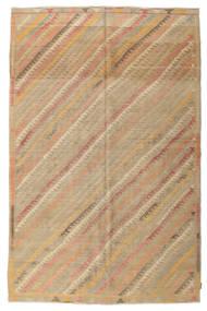 Kelim Halvt Antikke Tyrkiske Teppe 200X302 Ekte Orientalsk Håndvevd Lysbrun/Mørk Beige (Ull, Tyrkia)