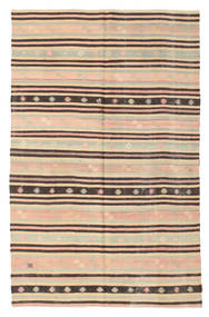 Kilim Semi Antique Turkish Rug 174X270 Authentic  Oriental Handwoven Dark Beige/Dark Brown (Wool, Turkey)