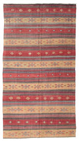 Kelim Semi-Antiek Turkije Vloerkleed 180X332 Echt Oosters Handgeweven Lichtbruin/Roestkleur (Wol, Turkije)
