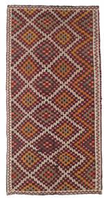 Kelim Semiantiikki Turkki Matto 154X303 Itämainen Käsinkudottu Ruskea/Tummanpunainen (Villa, Turkki)