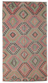 Kilim Semi Antique Turkish Rug 172X307 Authentic  Oriental Handwoven Dark Grey/Rust Red (Wool, Turkey)