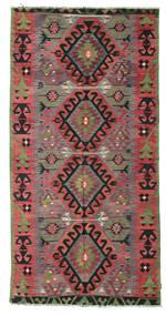 Kelim Semi-Antiek Turkije Tapijt 158X310 Echt Oosters Handgeweven Donkergrijs/Bruin (Wol, Turkije)