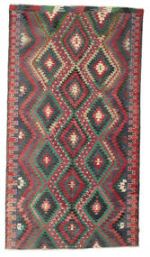 Kilim Semi Antique Turkish Rug 188X343 Authentic  Oriental Handwoven Dark Grey (Wool, Turkey)
