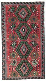 Kilim Semi Antique Turkish Rug 178X326 Authentic  Oriental Handwoven Black/Crimson Red (Wool, Turkey)
