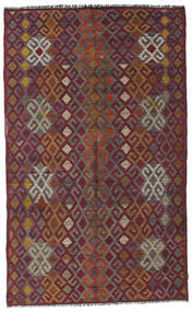 Kelim Halbantik Türkei Teppich  182X300 Echter Orientalischer Handgewebter Dunkelrot/Dunkelgrau (Wolle, Türkei)