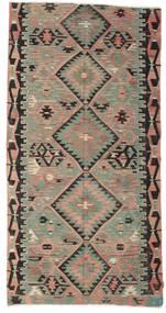 Kelim Halvt Antikke Tyrkiske Teppe 158X304 Ekte Orientalsk Håndvevd Lys Grå/Mørk Grå (Ull, Tyrkia)