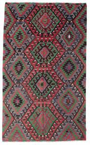 キリム セミアンティーク トルコ 絨毯 193X322 オリエンタル 手織り 濃いグレー/赤 (ウール, トルコ)
