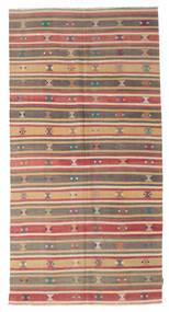 Kilim Semi Antique Turkish Rug 164X317 Authentic  Oriental Handwoven Rust Red/Dark Beige (Wool, Turkey)