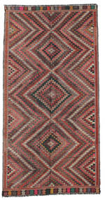 Kilim Semi Antique Turkish Rug 170X330 Authentic  Oriental Handwoven Dark Brown/Dark Red (Wool, Turkey)