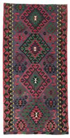 キリム セミアンティーク トルコ 絨毯 164X328 オリエンタル 手織り 紺色の/赤 (ウール, トルコ)