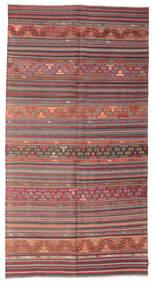 Kilim Semi Antique Turkish Rug 163X310 Authentic  Oriental Handwoven Light Brown/Dark Red/Rust Red (Wool, Turkey)