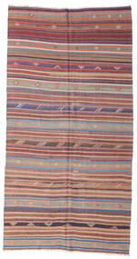 Kilim Pół -Antyk Tureckie Dywan 168X321 Orientalny Tkany Ręcznie Fioletowy/Jasnoszary (Wełna, Turcja)