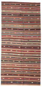 Kilim Pół -Antyk Tureckie Dywan 180X373 Orientalny Tkany Ręcznie Ciemnoniebieski/Pomarańczowy (Wełna, Turcja)