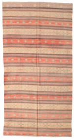 Kelim Semiantiikki Turkki Matto 190X372 Itämainen Käsinkudottu Vaaleanruskea/Vaaleanpunainen (Villa, Turkki)
