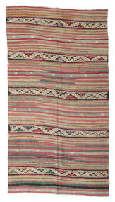 Kilim Semi Antique Turkish Rug 156X287 Authentic  Oriental Handwoven Light Brown/Light Grey (Wool, Turkey)
