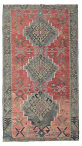 Chilim Semi-Antic Turcia Covor 180X320 Orientale Lucrate De Mână Gri Închis/Ruginiu (Lână, Turcia)