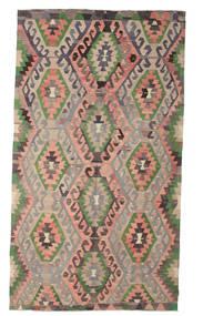 Kilim Semi Antique Turkish Rug 193X344 Authentic  Oriental Handwoven Light Brown/Dark Grey (Wool, Turkey)
