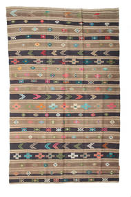 Kilim Semi Antique Turkish Rug 158X248 Authentic  Oriental Handwoven Light Brown/Purple (Wool, Turkey)
