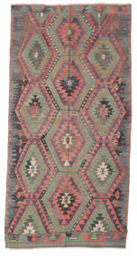 Kilim Semi Antique Turkish Rug 158X316 Authentic  Oriental Handwoven Dark Grey/Dark Blue (Wool, Turkey)