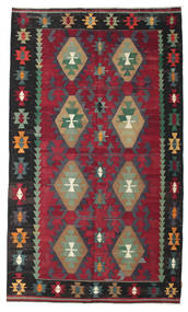 Kilim Semi Antique Turkish Rug 187X313 Authentic  Oriental Handwoven Dark Red/Black/Dark Grey (Wool, Turkey)