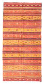 Kilim Félantik Törökország Szőnyeg 156X317 Keleti Kézi Szövésű Narancssárga/Rozsdaszín (Gyapjú, Törökország)
