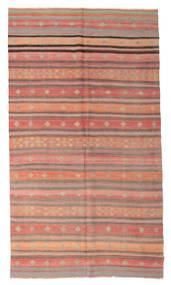 Kelim Semiantiikki Turkki Matto 188X338 Itämainen Käsinkudottu Vaaleanpunainen/Vaaleanruskea/Ruskea (Villa, Turkki)