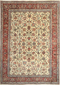 Sarouk Rug 260X370 Authentic Oriental Handknotted Light Brown/Beige Large (Wool, Persia/Iran)