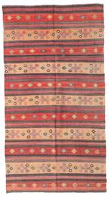 Kelim Semiantiikki Turkki Matto 169X314 Itämainen Käsinkudottu Tummanbeige/Vaaleanruskea/Violetti (Villa, Turkki)
