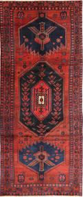 Koliai Tæppe 143X348 Ægte Orientalsk Håndknyttet Tæppeløber Sort/Rust (Uld, Persien/Iran)
