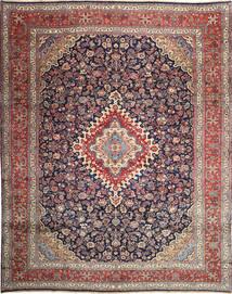 Hamadan Shahrbaf Matta 322X412 Äkta Orientalisk Handknuten Ljusgrå/Lila Stor (Ull, Persien/Iran)