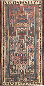 Kilim Fars Rug 158X318 Authentic  Oriental Handwoven Light Brown/Dark Grey (Wool, Persia/Iran)