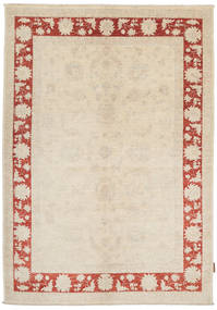 Ziegler Rug 142X204 Authentic  Oriental Handknotted Beige/Dark Beige (Wool, Pakistan)