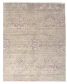 Himalaya Matto 239X303 Moderni Käsinsolmittu Vaaleanruskea/Tummanharmaa (Villa/Bambu Silkki, Intia)