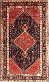 Nahavand Rug 150X258 Authentic  Oriental Handknotted Dark Green/Dark Red (Wool, Persia/Iran)