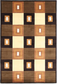 Himalaya Rug 138X205 Authentic  Modern Handknotted Brown/Black (Wool, India)